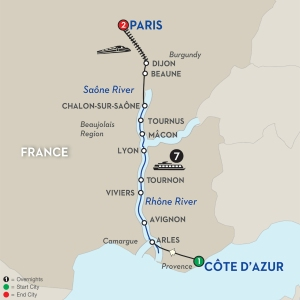 France River Cruise Map 17June2016